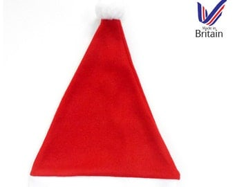 PERSONALISED Baby Santa and Elf Christmas Hats - Green / Red - Available In all Baby Sizes