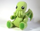 Big and Cuddly CTHULHU Plush - Pastel Green