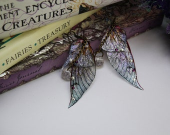 Pointed Purple Sprite Fairy Wing/ Butterfly Wing Earrings