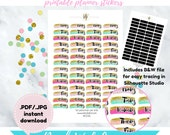 Item #0346 Weekday Brush Date Cover up Stickers Set(perfect for planners)