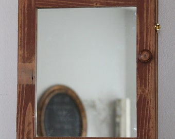 Rustic medicine cabinet etsy - Hickory medicine cabinet with mirror ...