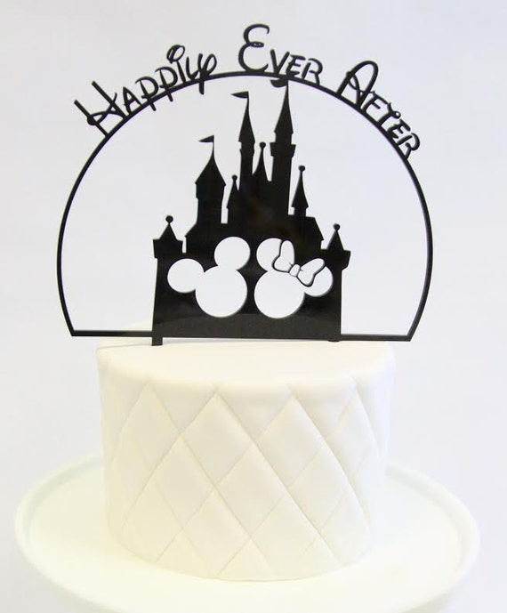 mickey and minnie silhouette wedding cake topper disney inspired cake topper happily after 17345