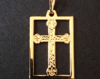Catholic cross pendant