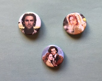 Poldark - Ross and Demelza Pinback Buttons