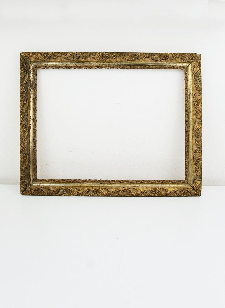 Vintage Ornate Frame Antique Gesso Frame Vintage Wood Frame
