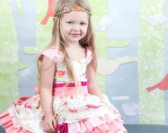 Girls Party Dress, Baby Girl Dress, Toddler Dress, Girls Fancy Ruffle Dress, Tea Party Dress, Boutique Dress, Twirl Dress, Flower Girl