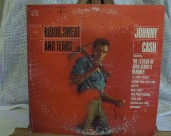 Johnny Cash Blood Sweat and Tears Record LP Album
