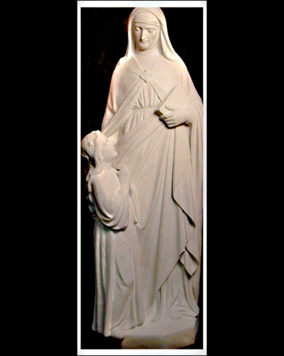 """St. Anne with the Child Mary Fiberglass 48"""" Catholic Christian Religious Statue"""