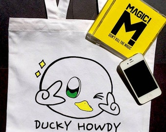 Winking Ducky Howdy Tote Bag