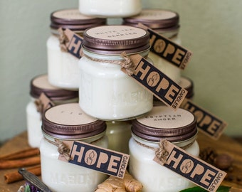 FREE SHIPPING-- When buying 4 hope candles @ a time.