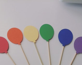 Balloon Cupcake Toppers / Birthday Cupcake Topper