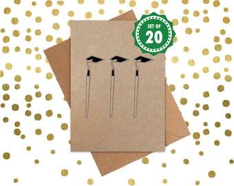 Funny Christmas Cards, Christmas Cards, Holiday Cards, Xmas Cards, Seasonal card, Dingbat card: Set of 20 Christmas Cards. Ho Ho Ho