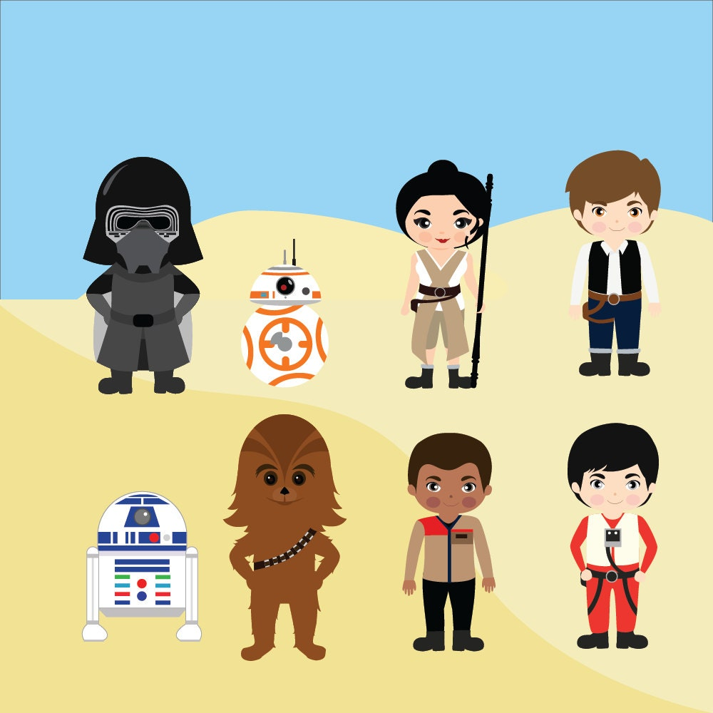G Force Cartoon Characters Names : Star wars clipart printable instant download png files