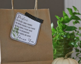 Pastor Appreciation Card - Printable - Gift Tag