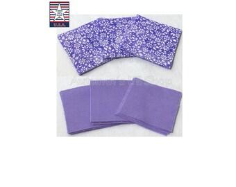 Precut Fabric Squares, 2 inch Purple Precut Squares, Lavender Quilting Squares, Quilting Precuts, Sewing Fabrics, 40 - 100% Made in USA