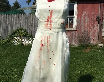 Zombie costume, zombie dress, girls zombie costume, walking dead costume, womens zombie costume, bloody vampire dress, girls vampire dress