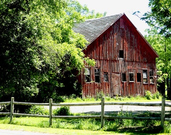 Old Barn Photo,Photo of Old Red Barn,Old Barn Picture,Picture of Old Barn,Fine Art,Old Barn Photographs,Rustic Farm Photos,Summer Barn Photo