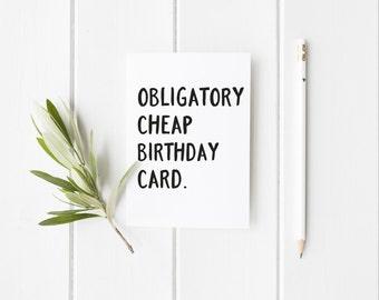 funny birthday card obligatory cheap birthday card birthday card birthday card for friend - Cheap Birthday Cards