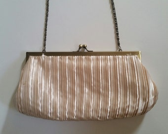 Vintage Light Pink Clutch with Chain Handle