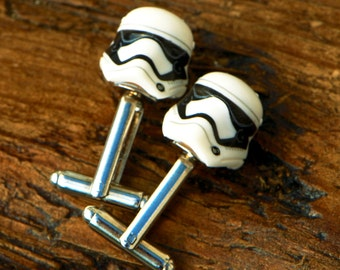Star Wars Cufflinks - First Order Cufflinks - Storm Trooper Cufflinks For Men - Mens Birthday Gift - StarWars Gift - Movie Cufflinks