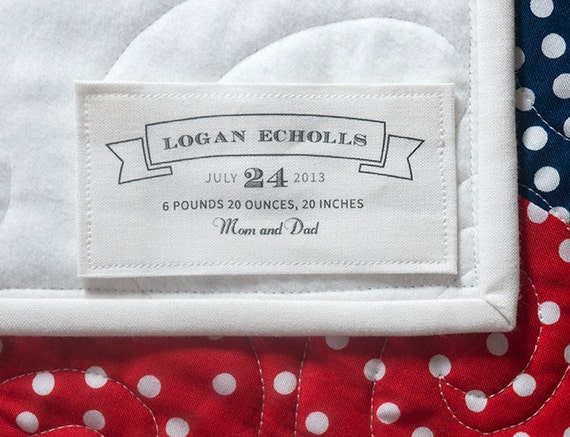 Custom Fabric Label Personalized Cotton Label Blanket