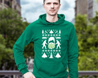 Beard Ugly Christmas Sweater Hoodie, Yukons Beard, Funny Gift for Him