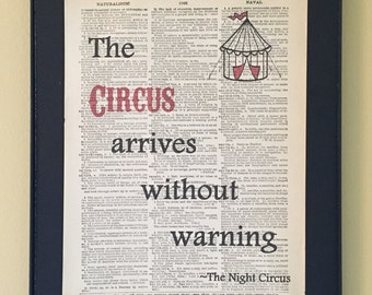 The Circus Arrives Without Warning - Night Circus Page Art