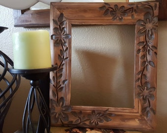Hand Carved Wood Frame 8x10
