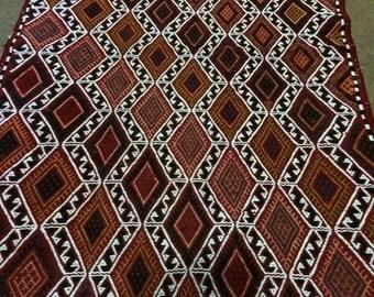 Vintage    Anatolian  Cicim Kilim Rug /  3'4'' x 2'3'' ft  / 1.00 x 0.68 mt