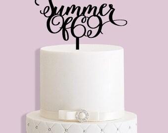 Summer of 69 Cake Topper