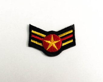Badge Wings Iron on Patch(S) -Aviator Wings Applique Embroidered Iron on Patch-Size 4.1x3.1 cm
