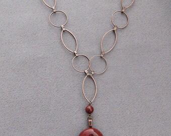 Poppy Red Jasper Necklace/Pendant/Valentine's Day Gift