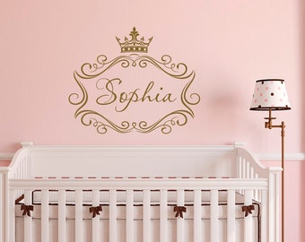 Mermaid Name Wall Decal By FabWallDecals Personalized Mermaid - Personalized custom vinyl wall decals for nurserypersonalized wall decals for kids rooms wall art personalized