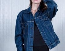 Levi's trucker denim jacket / vintage Levi's jacket / Ladies denim jacket / Men's trucker jacket / Oversized jacket / Size XL