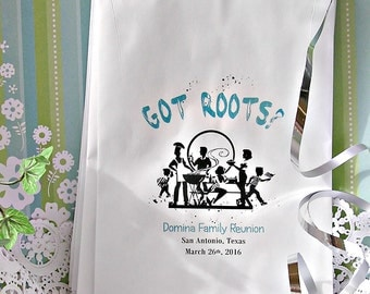 Personalized Family Reunion Favor Bags (24 BAGS) - Popcorn Bags - Cookie Bags - Cotton Candy Bags FR03-P12z