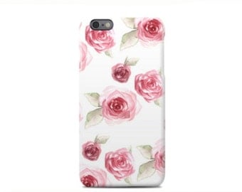 Pink Rose Phone Case - iPhone 6 - iPhone 6 Plus - iPhone 5 - iPhone 5S - iPhone 5C - Samsung Galaxy S5 / S6 / S7