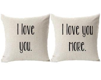 I Love You, I Love You More Pillowcase Set
