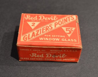 Vintage Red Devil #2 Glaziers Points for Setting Window Glass