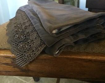 Christopher Andreae Vintage velvet grey shawl