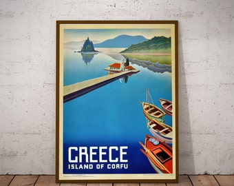 Greece Travel Poster Vintage Greek Travel Print