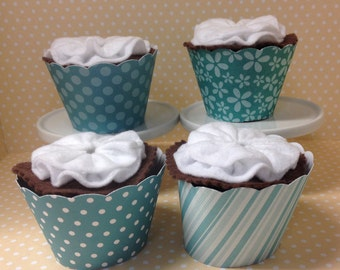 Teal Cupcake Wrappers - set of 10