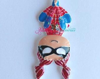 Spider Girl Rhinestone Pendant