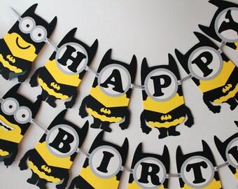 Batgirl minion Superhero birthday decorations girl Batgirl