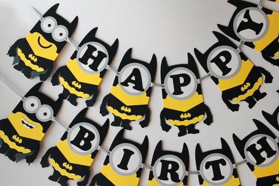Batman minion birthday banner Batman birthday party