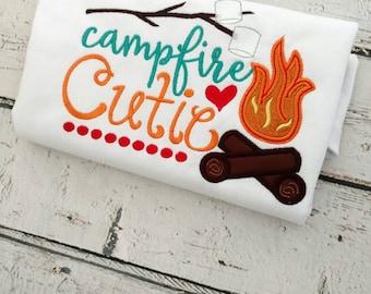 Girls camping shirt - camping shirt - camping birthday - family camping shirts - girls summer shirt - girls camping outfit - campfire shirt