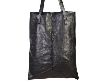 Black Tote   Every Day Bag   Shoulder Leather Bag   Black leather Tote Bag   Soft Leather Bag   Women Bag   Holiday Gift   Best Present
