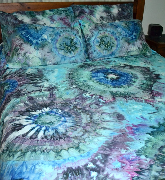 Ice Tie Dye Bed Quilt Cover Set Jenny 100% Cotton