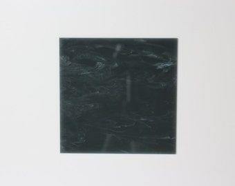 "W306 Navy blue and white marble acrylic perspex sheet ""Slate"""