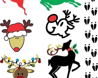 Christmas Reindeer Vector art for printing and cutting and crafting