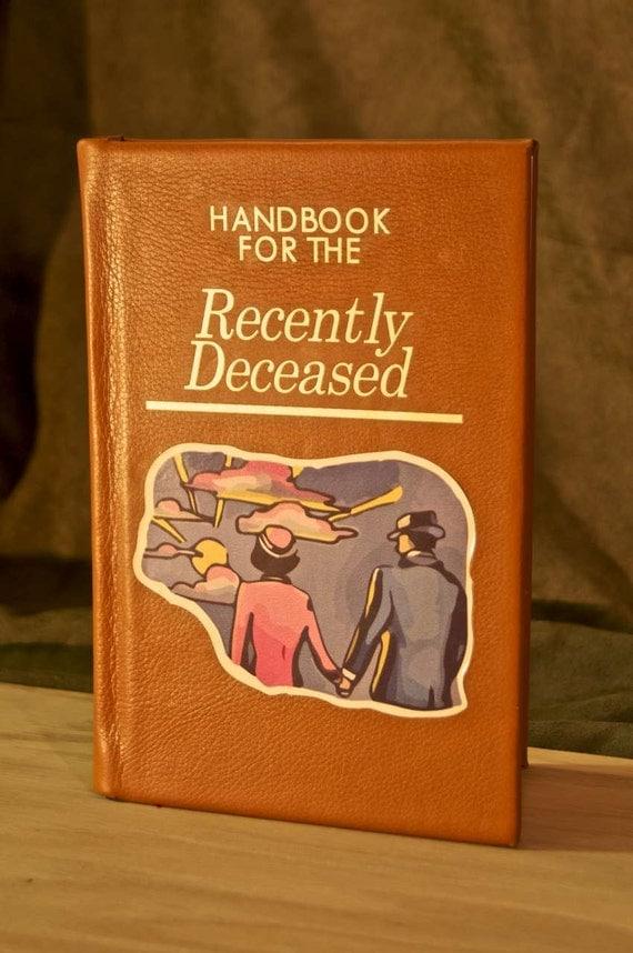 Printable Book Cover Handbook For The Recently Deceased ~ Handbook for the recently deceased book replica ereader
